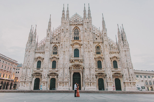 engagement session milan duomo-