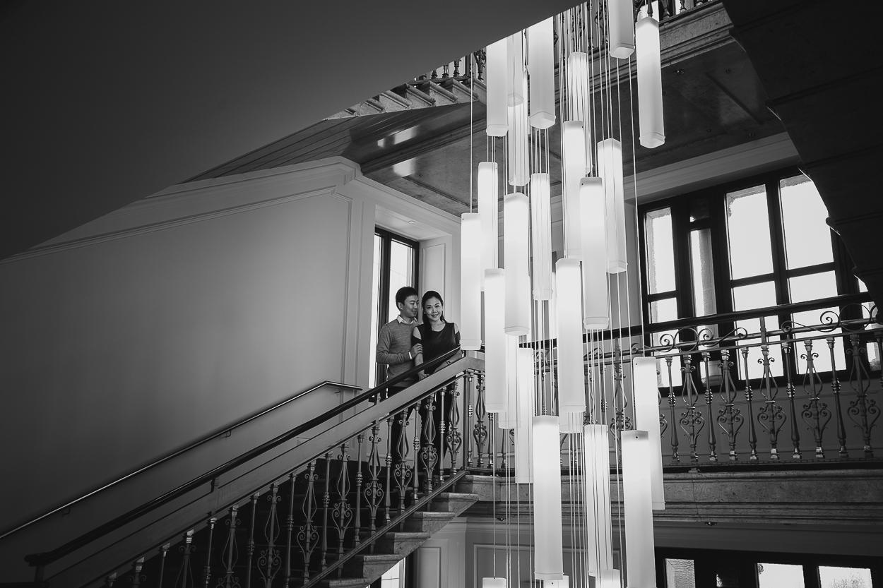 Engagement photo in Milan