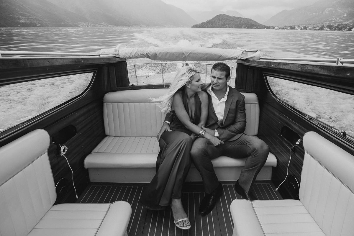 engagement couple Lake Como
